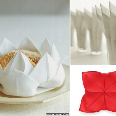 Cómo doblar servilletas de forma original