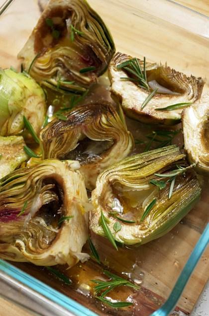 Preparar alcachofas al horno