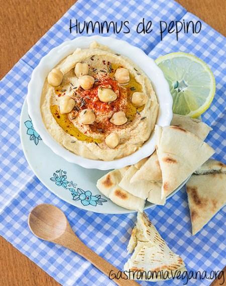 Hummus de pepino