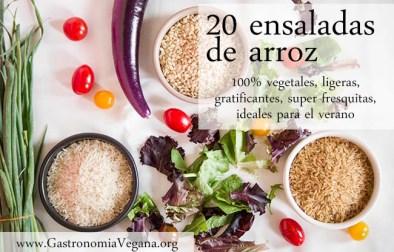 20 ensaladas de arroz 100% vegetales