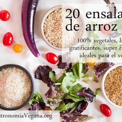 20 ensaladas de arroz veganas, ligeras y frescas