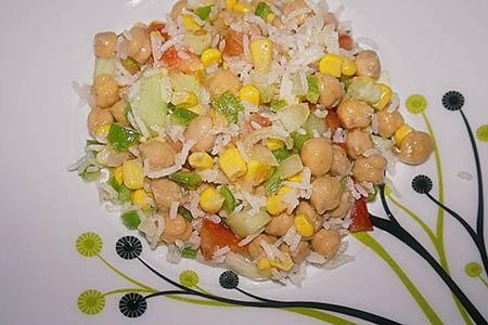 Ensalada de garbanzos y arroz basmati