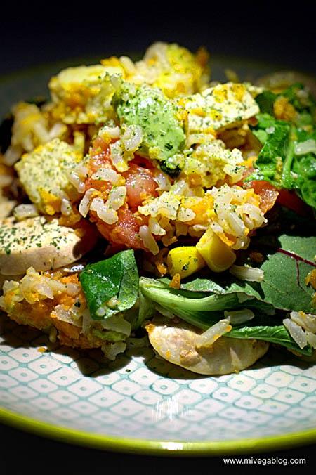 Ensalada de arroz basmati integral