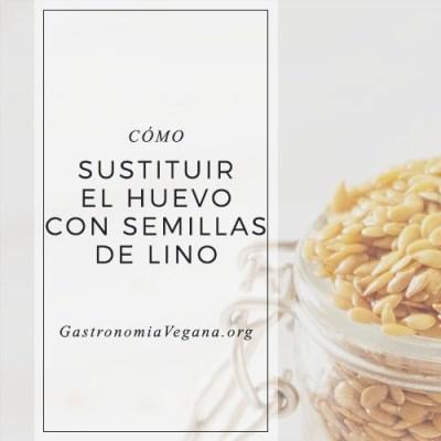 Cómo sustituir el huevo con semillas de lino
