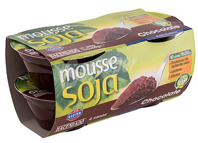 Mousse de soja chocolate Hacendado