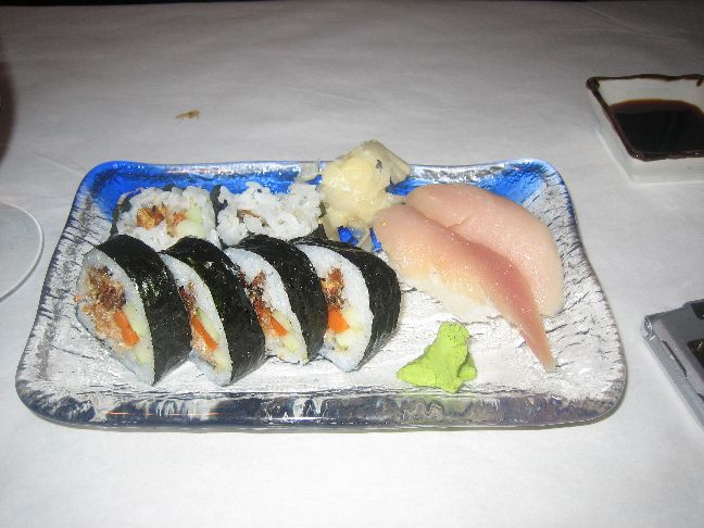 salmon skin roll with albacore