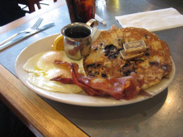 porcupine blueberry pancakes