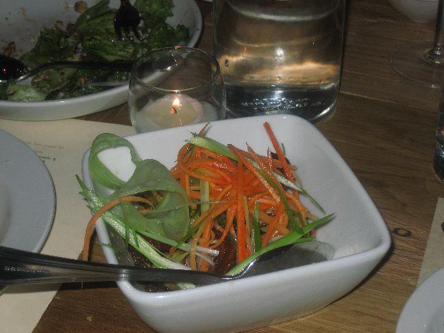 copper onion pork belly salad