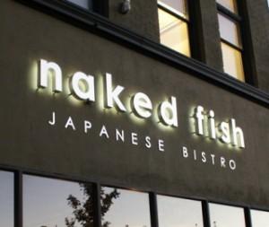 naked fish exterior sign