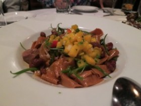 log haven duck and pasta