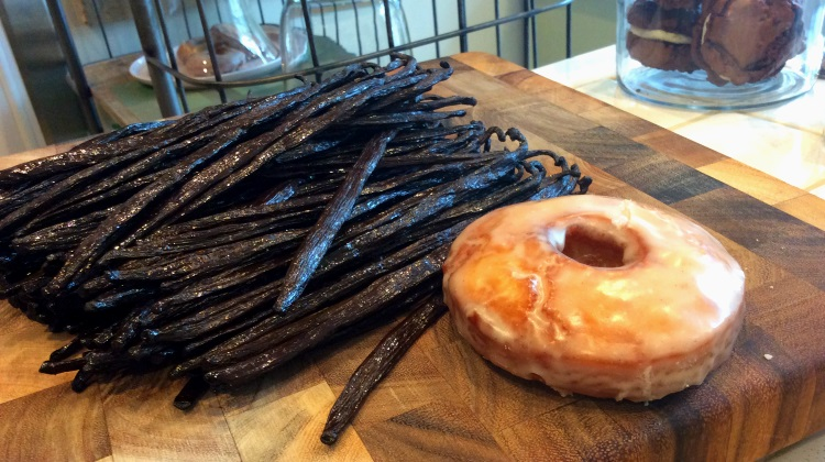 from scratch bake shop donut and vanilla pods