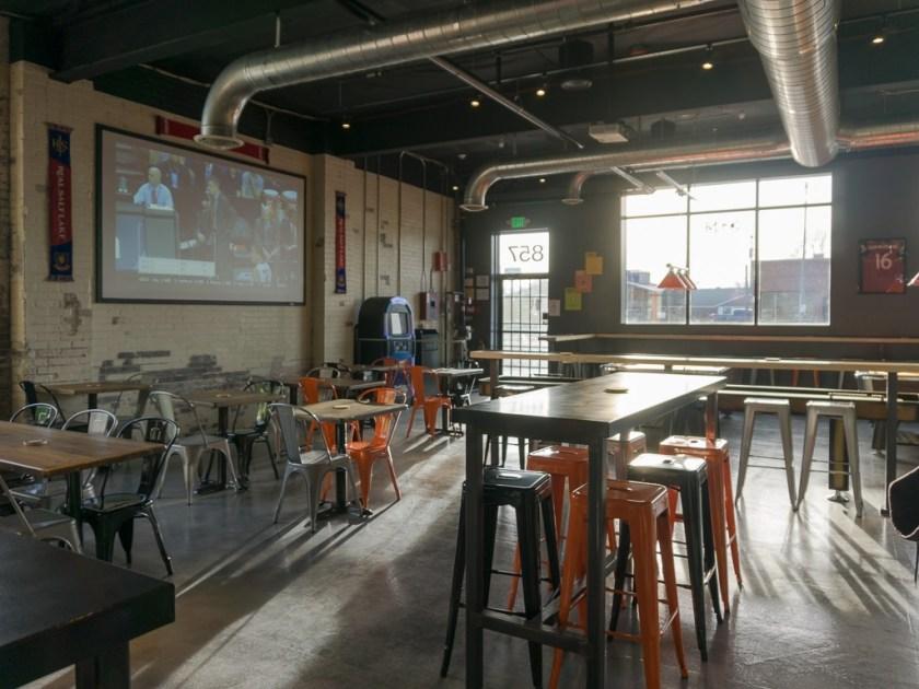 interior of proper pub