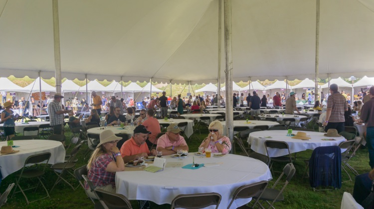 Taste Of The Wasatch 2015  reserved seating tent 2