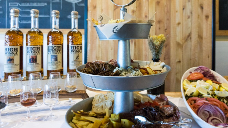 Blue Sky Ranch: High West Distillery whiskey and various fixins