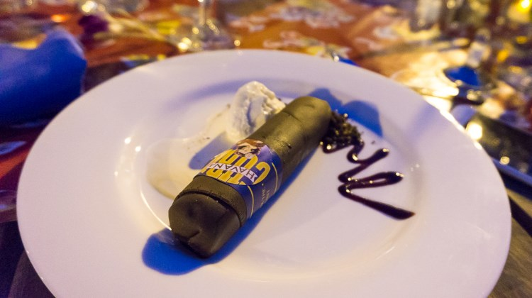 Savor The Summit 2016 - rum ice cream with chocolate cigar