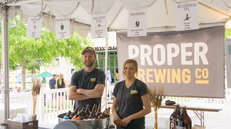 Tastemakers 2016 - Liam Connolly of Proper Brewing with colleague