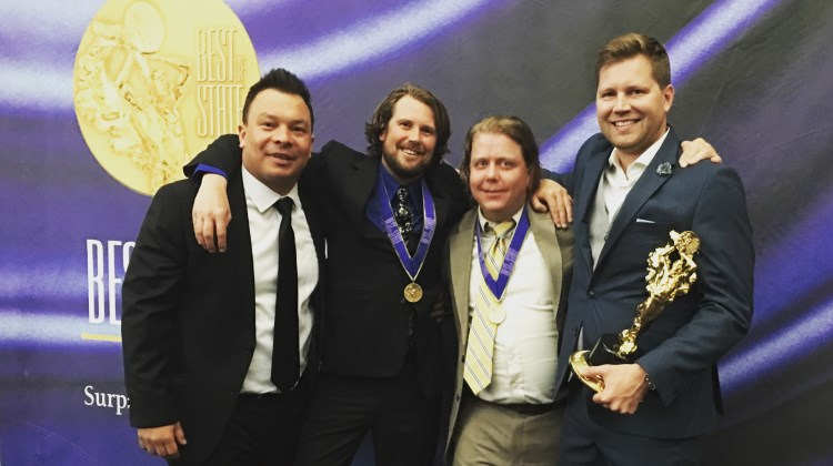 Goldener Hirsch Inn - the team, chef Ryan Burnham pictured far right.