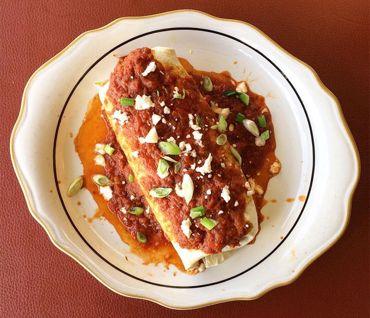 Twin Suns Cafe - uncle Tommy's wet burrito. Credit, Joshua Shimizu