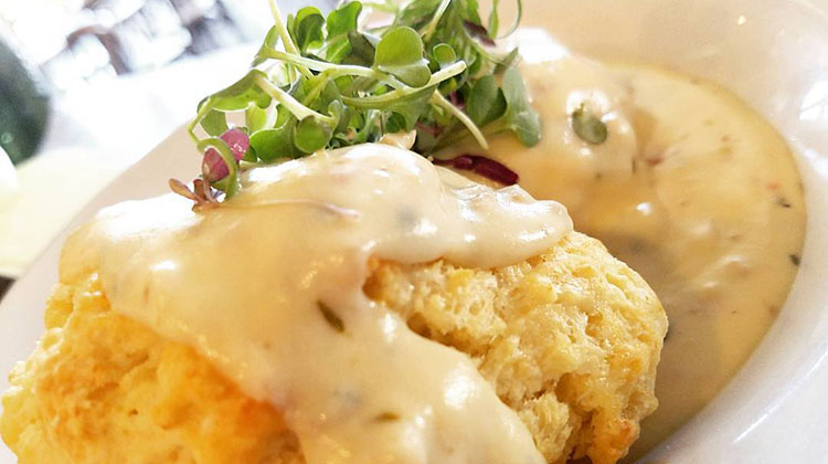 Tradition - buttermilk biscuits with country gravy