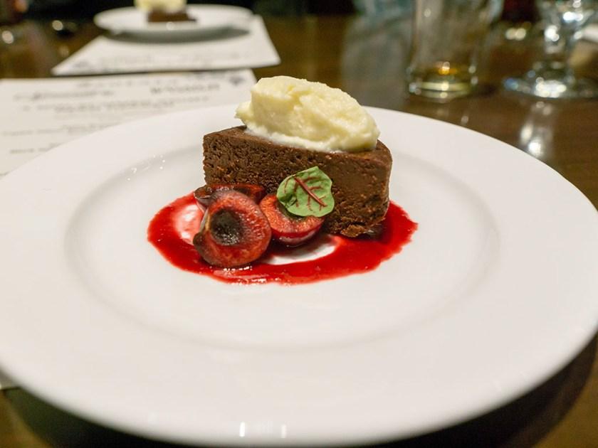 Bambara - Wasatch Summer beer dinner - dark chocolate torte