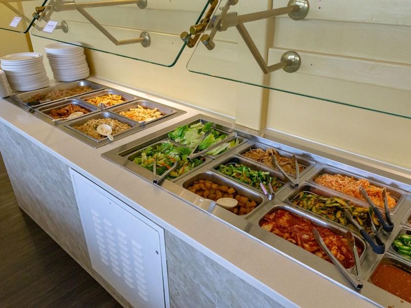 EJO Korean BBQ - buffet station with banchan