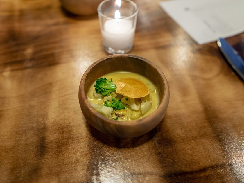 SLC Eatery - veggie soup from the cart with vadouvan curry