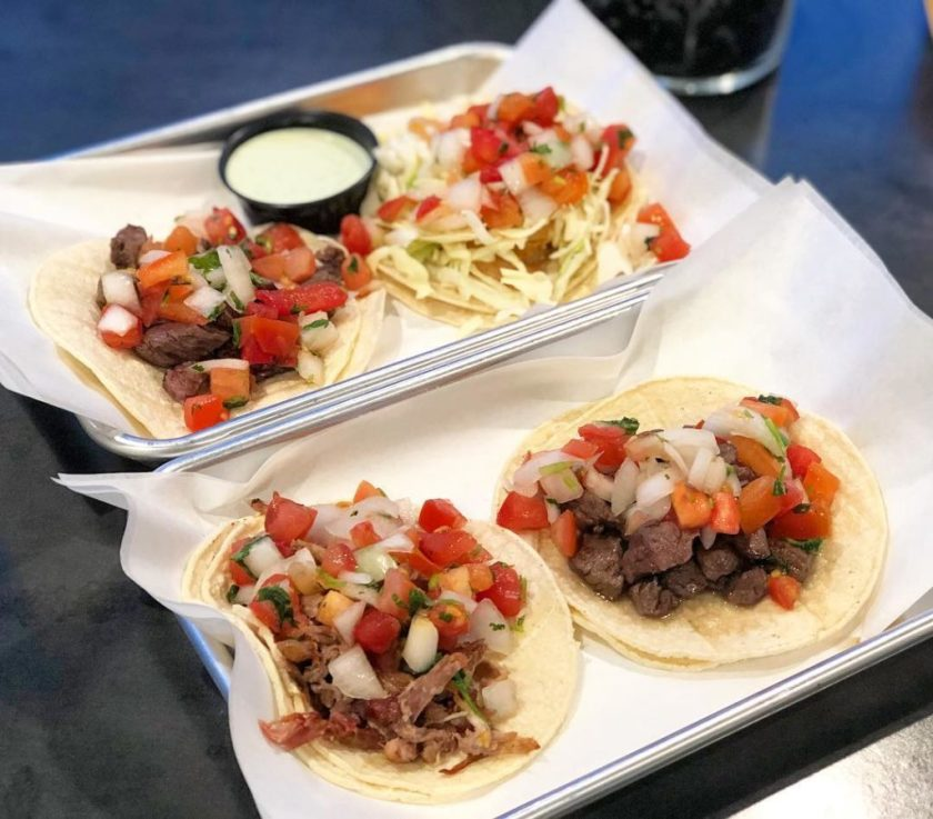 Barrio - wagyu steak, carnitas and grilled shrimp tacos (Saltplatecity)