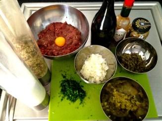 Steak tartare Ingredientes