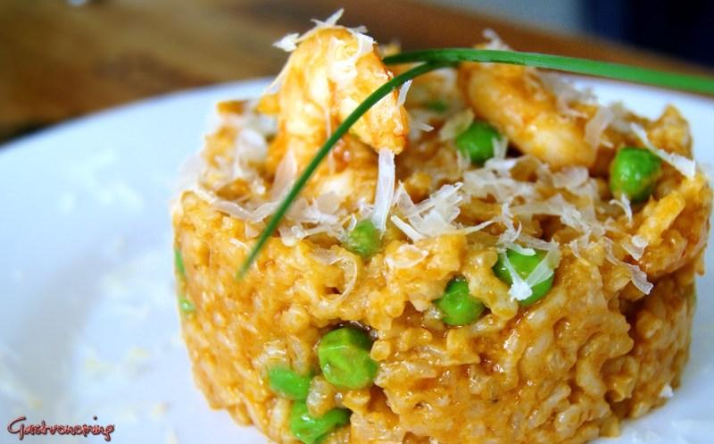 arroz cremoso con langostinos