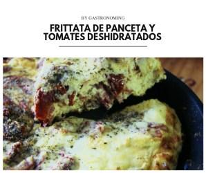 Frittata de panceta y tomates deshidratados