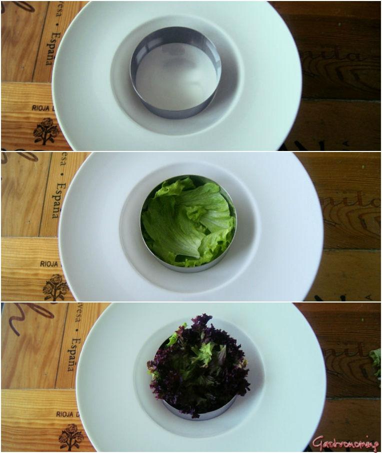 ensalada de ventresca de bacalao