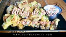 Alitas de pollo al ajo y parmesano