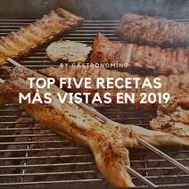 Top five recetas más vistas en 2019