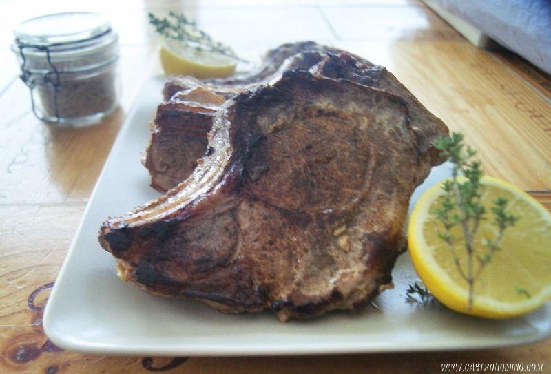 Chuletas de cerdo con 5 especias al limón sous vide 5