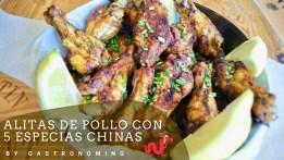 Alitas de pollo con 5 especias chinas