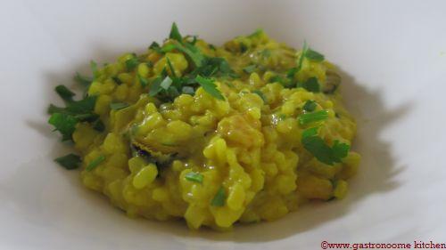 Risotto de moules au curry