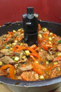 Emincé de bœuf aux poivrons à l'actifry (196 kcal / portion de 200 gr)