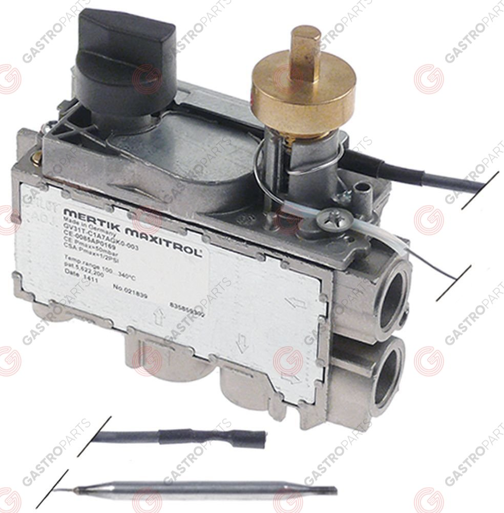 hight resolution of gas thermostat mertik type gv31t t max 110 c 30 110 c gas inlet lateral 3 8