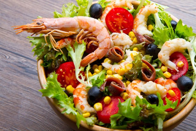 Shrimps Salat Krustentiere Lebensmittelunverträglichkeit
