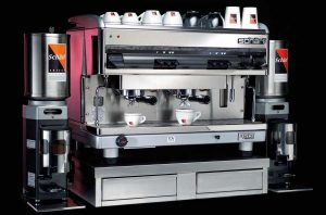 Eine Espressomaschine für die anspruchsvolle Gastronomie