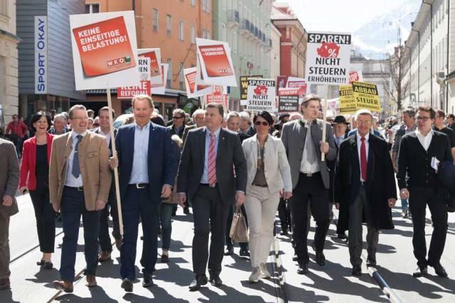 Innsbruck Touristiker Demo Steuerreform