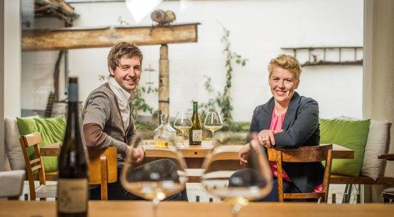 Wein ein Kunstwerk am Weingut Arndorfer