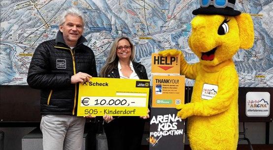 Zillertal Arena spendet an SOS-Kinderdorf