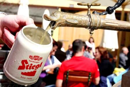 Biergarten-Saisonende in der Stiegl-Brauwelt