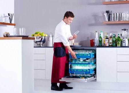 Profi-Spülmaschine mit Frischwasser-System von Miele Brilliant