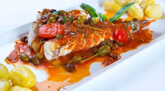 Köstliches Fischrezept Schwertfisch Salmoriglio-Sauce