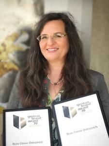 Auszeichnung Bierkultur Gabriela Maria Straka, Leitung Unternehmenskommunikation & CSR der Brau Union Österreich