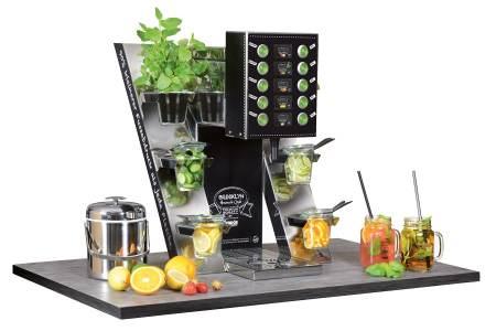 Grapos verbindet formschönen Offenausschank, erfrischende Getränkesorten und nachhaltige Systeme.