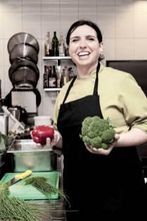 Küchenchefin Silvia Wohlfahrt.