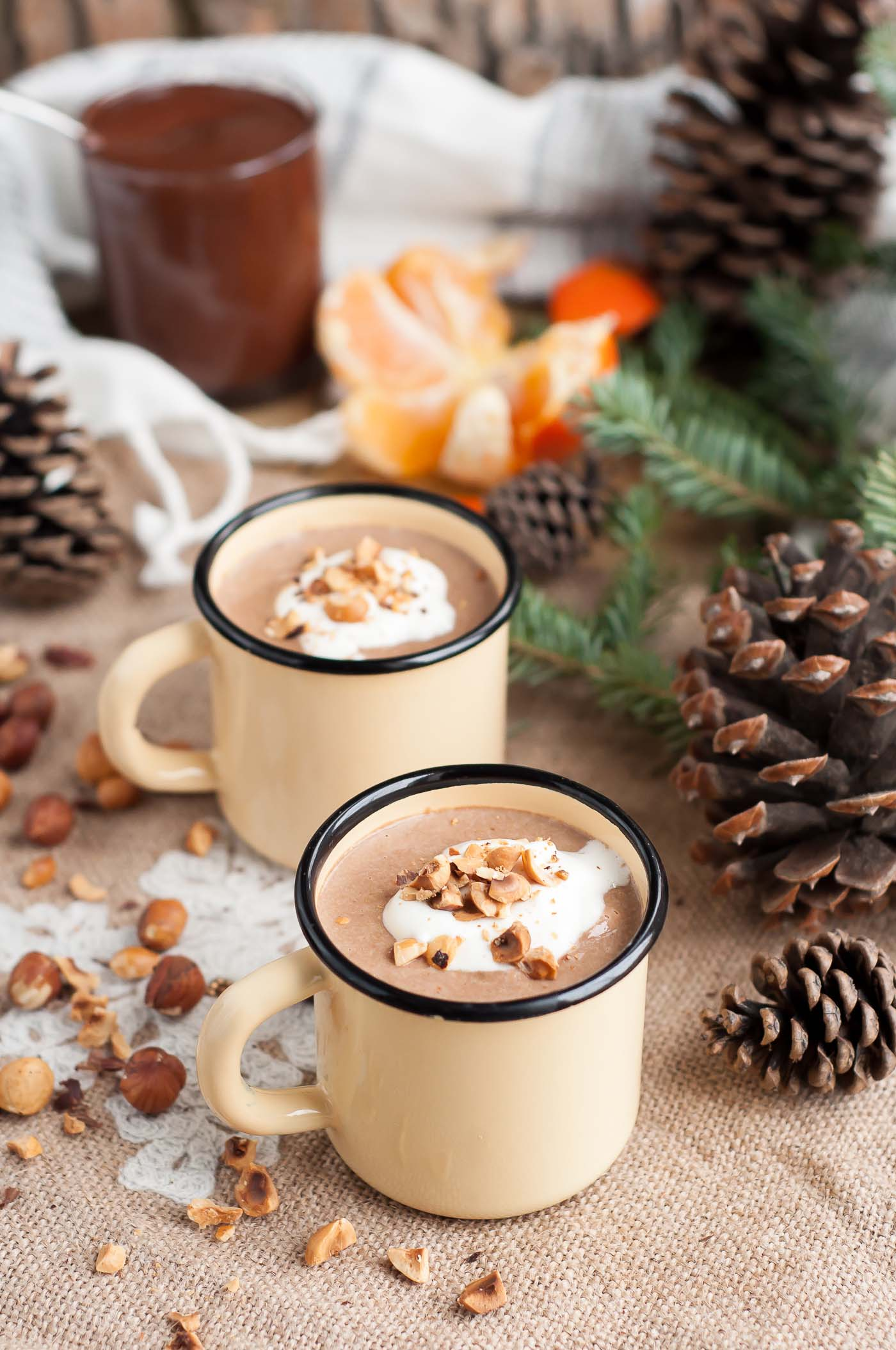 Homemade Nutella Eggnog